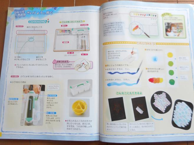 図工の教科書の絵具のページ